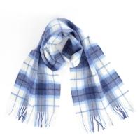 Сине-белый клетчатый шарф JOHN HANLY #343