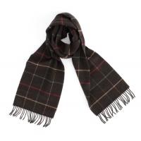 Темно-коричневый клетчатый шарф JOHN HANLY #8028