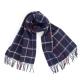 Темно-синий шерстяной шарф в клетку JOHN HANLY #290