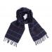 Темно-синий клетчатый шарф JOHN HANLY #8027