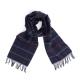 Темно-синий клетчатый шарф из шерсти и кашемира JOHN HANLY #8027