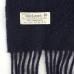 Темно-синий шерстяной шарф JOHN HANLY #593