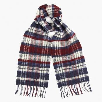 Клетчатый шарф из шерсти JOHN HANLY #2431