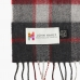 Шарф из мериносовой шерсти в красных и серых тонах JOHN HANLY #140