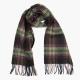 Клетчатый шарф в зеленых тонах из шерсти и кашемира JOHN HANLY #8019
