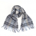 Шерстяной клетчатый шарф в синих тонах JOHN HANLY #293