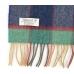 Шерстяной шарф в синих, зеленых и красных тонах JOHN HANLY #228
