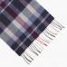 Шарф из мериносовой шерсти в серых, синих и красных тонах JOHN HANLY #126