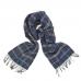 Темно-синий шерстяной шарф в клетку #1994 JOHN HANLY