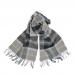 Серый клетчатый шарф JOHN HANLY #220