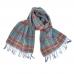 Клетчатый шарф в бирюзовых и красно-коричневых тонах JOHN HANLY #273