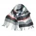 Шерстяной шарф в серую градиентную клетку #515 JOHN HANLY