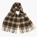 Коричневый клетчатый шарф JOHN HANLY #501