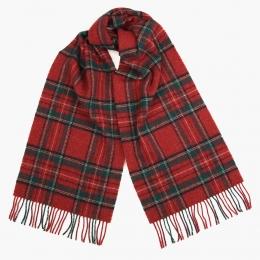 Красный клетчатый шарф JOHN HANLY #505