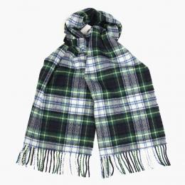 Шерстяной клетчатый шарф в зеленых тонах JOHN HANLY #551
