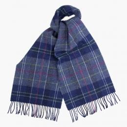Синий клетчатый шарф JOHN HANLY #564