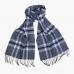 Синий шарф из мериносовой шерсти JOHN HANLY #189