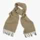 Бежевый в ёлочку шарф из шерсти и кашемира JOHN HANLY #2409