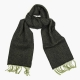 Зеленый в ёлочку шарф из шерсти и кашемира JOHN HANLY #2411