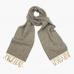 Серо-бежевый в ёлочку шарф из шерсти и кашемира JOHN HANLY #2419