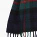 Сине-зеленый шерстяной шарф в клетку #502 JOHN HANLY