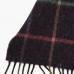 Сиреневый шерстяной шарф в крупную клетку JOHN HANLY #511