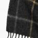 Серый шарф в крупную клетку JOHN HANLY #541