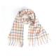 Шерстяной светлый шарф JOHN HANLY в клетку тэтэсол #353