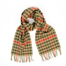 Шерстяной клетчатый шарф #1914 JOHN HANLY