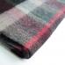 Шерстяной клетчатый шарф в бордовых тонах JOHN HANLY