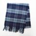 Шерстяной клетчатый шарф в синих и зеленых тонах JOHN HANLY