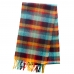 Шерстяной шарф в огненно-бирюзовых тонах JOHN HANLY