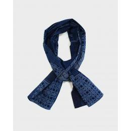Хлопковый шарф KIRIKO Blue Koushi
