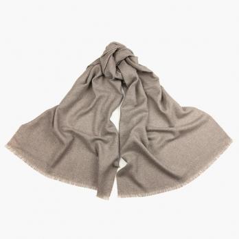Бежевый шерстяной шарф PAOLO ALBIZZATI
