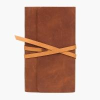 Скетчбук в кожаной обложке коричневый E.K. GOODS