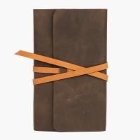 Скетчбук в кожаной обложке темно-коричневый E.K. GOODS