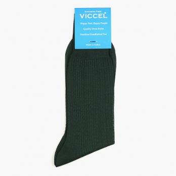 Зеленые хлопковые текстурные носки VICCEL