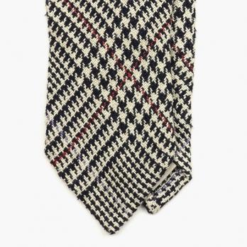 """Серо-бежевый галстук в клетку """"Принц Уэльский"""" AD56 MILANO"""