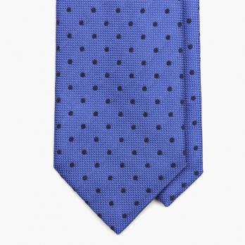 Синий галстук в черный горошек AD56 MILANO
