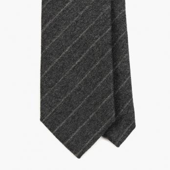 """Серый галстук в """"полоску мелом"""" FOUR-IN-HAND"""