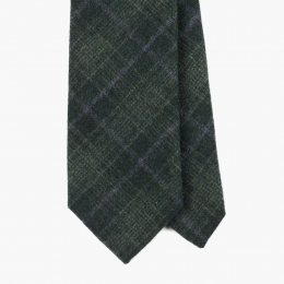 Зеленый галстук в крупную клетку FOUR-IN-HAND