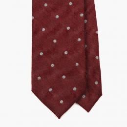 Красный галстук в горошек FOUR-IN-HAND