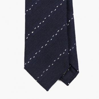 Синий галстук в пунктирную полоску FOUR-IN-HAND