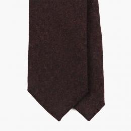 Бордовый шерстяной галстук в елочку FOUR-IN-HAND