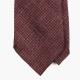 Бордово-коричневый шелковый галстук FOUR-IN-HAND в семь сложений
