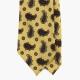 Желтый шелковый галстук с рисунком пейсли FOUR-IN-HAND