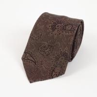Dark green silk paysley tie FOUR-IN-HAND