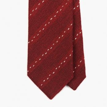 Красный галстук в пунктирную полоску FOUR-IN-HAND