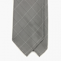 Серый шелковый галстук в клетку FOUR-IN-HAND