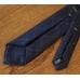 """Синий галстук в """"клетку мелом"""" FOUR-IN-HAND"""
